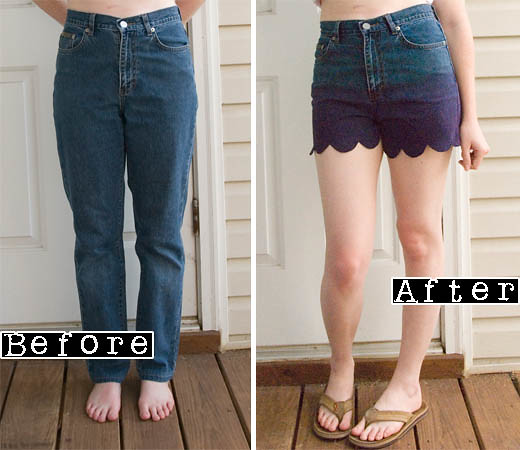 DIY - Ombre Scalloped Shorts8