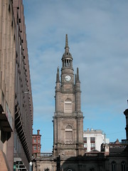 Scotland 546 (normafincher) Tags: blue roof tower scotland glasgow steeple thetop