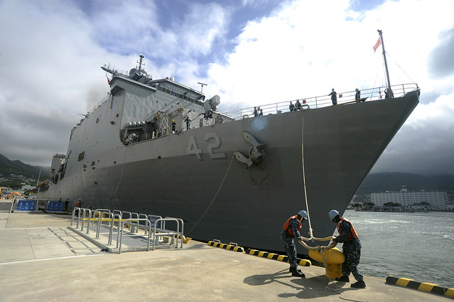 USS Germantown (LSD 42) departs U.S. Fleet Activities, Sasebo, Japan