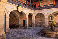 Bolivia-100601-233 (Kelly Cheng) Tags: travel color colour building heritage tourism southamerica horizontal museum architecture daylight colorful day arch mask outdoor colonial culture vivid bolivia nobody nopeople courtyard unesco colourful copyspace potosi traveldestinations nationalmintofbolivia pickbykc casadelamonedadebolivia mintofpotos
