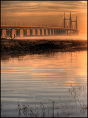 Second Severn Crossing at Dawn (-terry-) Tags: bridge wales sunrise river dawn crossing severn riversevern breathtaking daybreak monmouthshire secondseverncrossing caldicot anawesomeshot superaplus aplusphoto flickrchallengewinner 15challengeswinner excellentphotographerawards goldstaraward