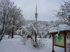 Tv-torony s Manduls jtsztr (Szabolcs Kis-Vrs) Tags: winter white snow nature playground forest hungary map sanyo termszet pcs xacti mecsek h fehr tl erd jtsztr trkp