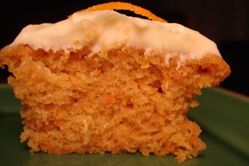 Carrot-Ginger Cupcake with Cream Cheese Frosting