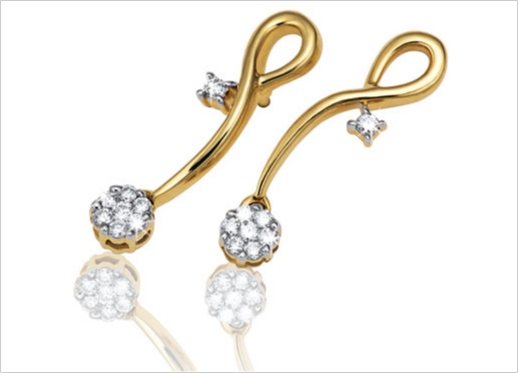 Tanishq - Collections - Aria Collection - Gallery :  jewel gold earrings tanishq