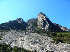 Le couloir d'accès à la crête de Compolelli à gauche de la Punta Chantara 1091 m (?)