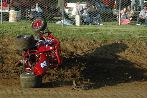 sprint car flipping