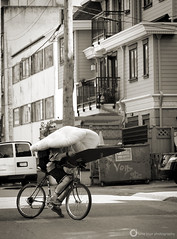 Moving Day (PiscesDreamer) Tags: street city urban canada bike bicycle vancouver alley downtown cyclist britishcolumbia streetphotography westend onelove