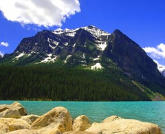 LAKE LOUISE (a walk on the wild side nature photography) Tags: rocks banff lakelouise albertacanada glaciallake snowtoppedmountain