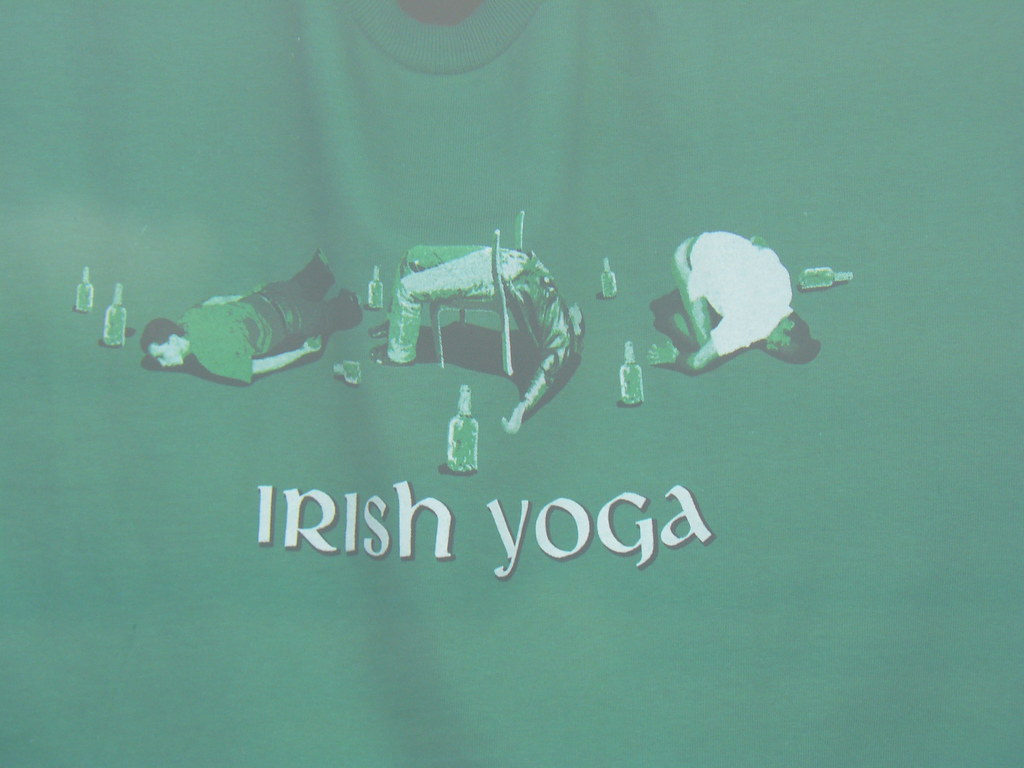irish yoga t-shirt