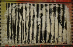 Banksy's Cans Festival, London (zoer) Tags: uk london wall painting graffiti madonna banksy tunnel britneyspears zoer mbw mrbrainwash leakestreet cansfestival robingunningham