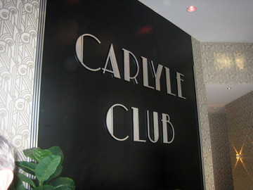 Carlyle Club Sign