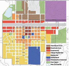 allocating land use in Greensburg (credit: Greensburg Sustainable Land Use Plan)