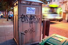 Enyer (caffeina) Tags: sf sanfrancisco street morning blur sunrise dawn graffiti graf tags muni hayes tagging handstyles nopa enyer westadd