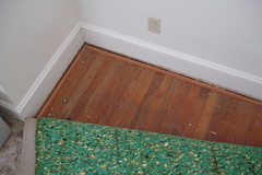 hardwood under all the carpets