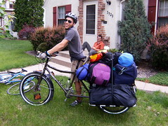 MS 150 (Sveden) Tags: camping bike bicycle big tour gear cargo cycle dummy surly 2008 loaded fully ms150 xtracycle