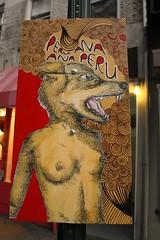 Peru Ana Ana Peru (peruanaanaperu) Tags: nyc streetart wolf board soho wolfwoman peruanaanaperu