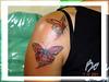 tatuagem borboletas ombro e braco TARZIA TATTOO -