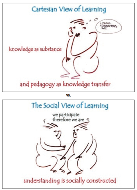 Cartesian vs. Social Learning