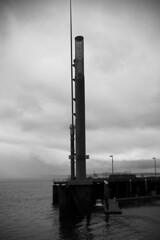 SEATTLE_1661.jpg (jtstrathdee) Tags: seattle blackandwhite water pier moody landsape