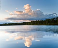 Mirror lake (Rob Orthen) Tags: sky lake reflection clouds suomi finland landscape nikon europe rob scandinavia reflexions maisema sysm kes d300 jrvi heijastus gnd 175528 cloudreflection leefilter orthen lakefinland roborthenphotography