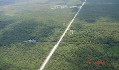 road bisecting Florida panther habitat (by: Elizabeth Fleming, courtesy of Defenders of Wildlife)