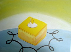 Lemon Cake in Acrylic