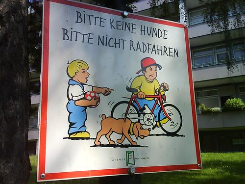 no dogs, no bikes