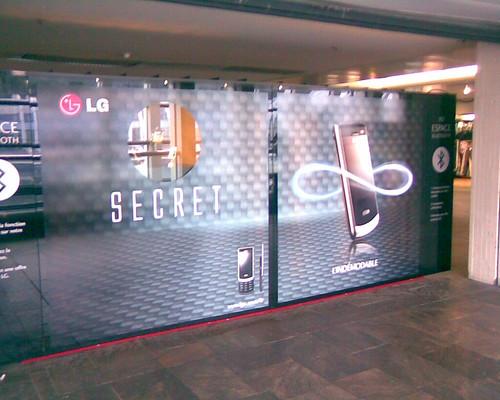Stand LG Secret aux Halles