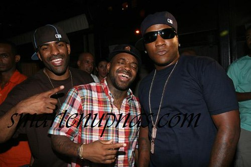 dj clue jermaine dupri & jeezy laughing at the thought that scarl does in fact bust his gun