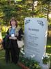 Joan MacKinnon with Memorial stone