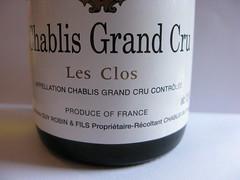 2003 Domaine Guy Robin & Fils Chablis Grand Cru Les Clos (Daniel (Jiuwine.com)) Tags: guy robin domaine fils