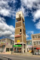 Market Clock Tower, Shipley (shipley43) Tags: uk england west tower clock raw market yorkshire hdr shipley hdri photomatix