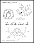 Indie Wedding Embroidery Pattern