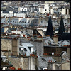Church Spires and Chimney Pots ({JO}) Tags: windows paris france rooftops spires tiles chimneys