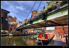 Canals at Brindley Place, Birmingham (rjt208) Tags: street door new old city uk bridge flowers windows building water dinner work canon buildings reflections table eos restaurant hotel town canal construction birmingham chair holidays scaffolding factory colours place chairs lock eating district centre central steps piano tunnel basin system gas business walkway cube tables area locks hyatt british ladder colourful across pitcher meetings ways soe barge westmidlands narrowboat socialising waterways the eateries brindley canalside 400d mywinners abigfave anawesomeshot lunchtine rjt rjt208 davincitouch