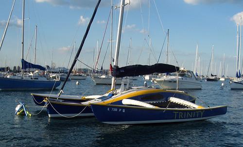 sailboat trimaran