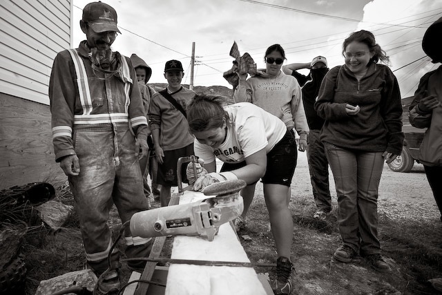 Stone Carving in Hopedale, Nunatsiavut