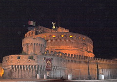 Castel Sant' Angelo at night (lreed76) Tags: italy rome unescoworldheritagesite castelsantangelo danbrown tomhanks angelsanddemons movielocation hadriansmausoleum