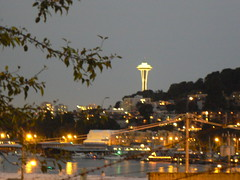 Space Needle at twilight