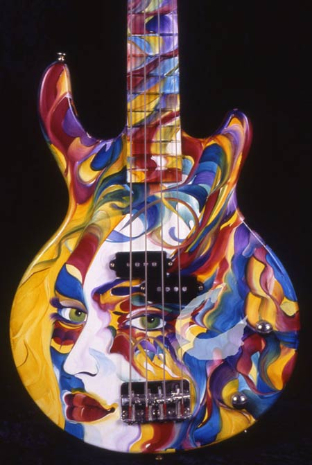 fine-art abstract guitar art design