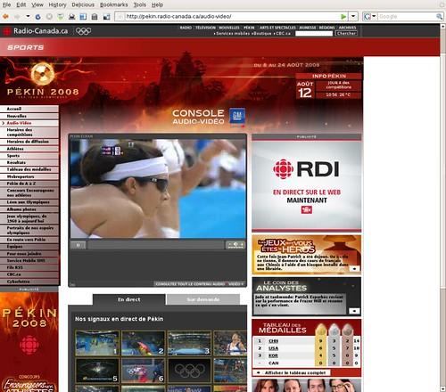 Les Jeux olympiques de Pékin 2008 sur Radio-Canada.ca
