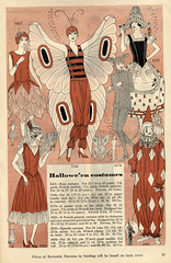 Butterick 1929 Costume Patterns (dragonflydesignstudio) Tags: 1920s costumes flower halloween girl lady vintage butterfly french mouse costume patterns clown spanish harlequin 1929 butterick 1659 6174 2822 vintagehalloween 3326 4006 6421