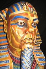 Golden Pharoah (hawhawjames) Tags: portrait selfportrait art face self facepainting paint king artist body painted egypt makeup bodypaint egyptian bodypainting 365 facepaint tut tutankhamun pharoh 365days