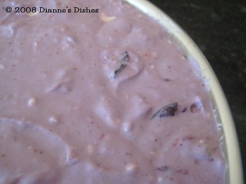 Blueberry Cheesecake: Up Close Before Baking