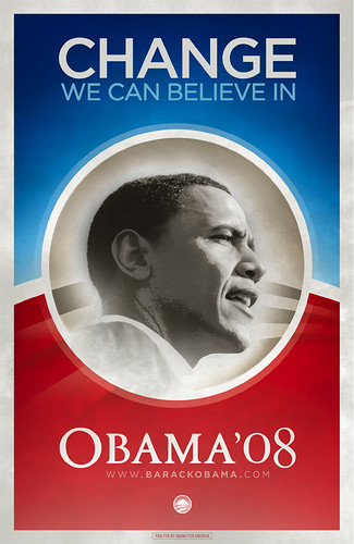 "Obama ""Change we can believe in"" poster!"