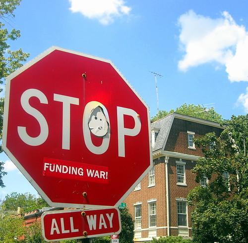 stop funding war! by NCinDC.