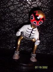 Paper Mache' Luchador/Mexican masked wrestler (Senora Muertos) Tags: folkart mexicanwrestler mexicanfolkart senoramuertos halloweenfolkart diadelosmuertosdayofthedeadwrestlerluchadorskeleton halloweenwrestler luchadorskeleton dayofthedeadluchador diadelosmuertosluchador