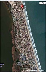 south of Corolla, NC (image by Google Maps)