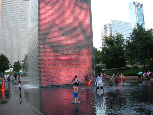 Fountain, Millenium park, Chicago