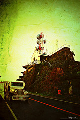 : tower ruins (Lakad Pilipinas) Tags: road street old tower texture architecture asia jeep philippines ruin communication southeast peoplespark tagaytay cavite lomofied radar dilapidated luzon greentint palaceinthesky nikond80 audioscience sangoyo christianlucassangoyo